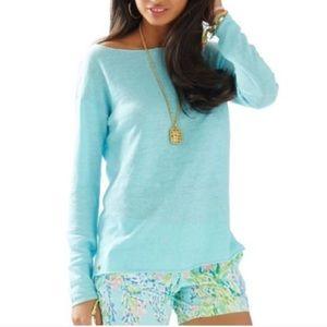 {Lilly Pulitzer} Alana Boatneck Linen Sweater Sz S
